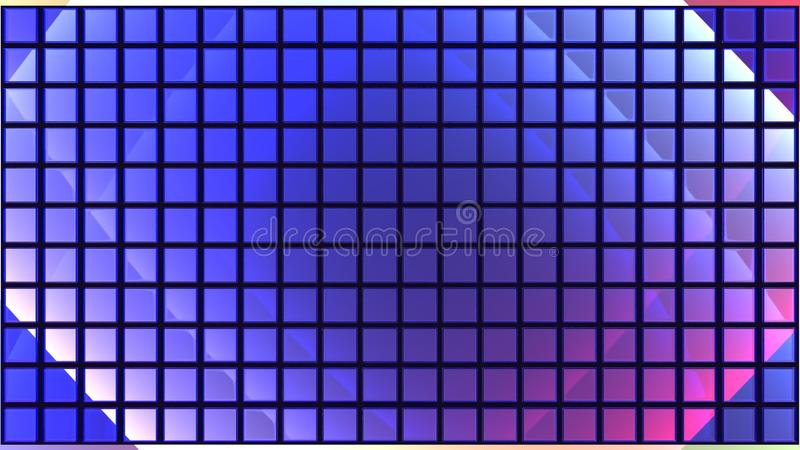 blåa tegelplattor royaltyfria bilder