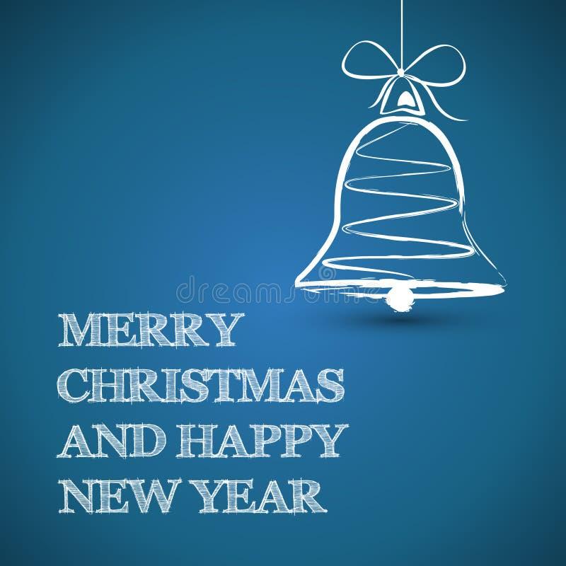 Blåa tekniska fyrkantiga julgåvor stock illustrationer