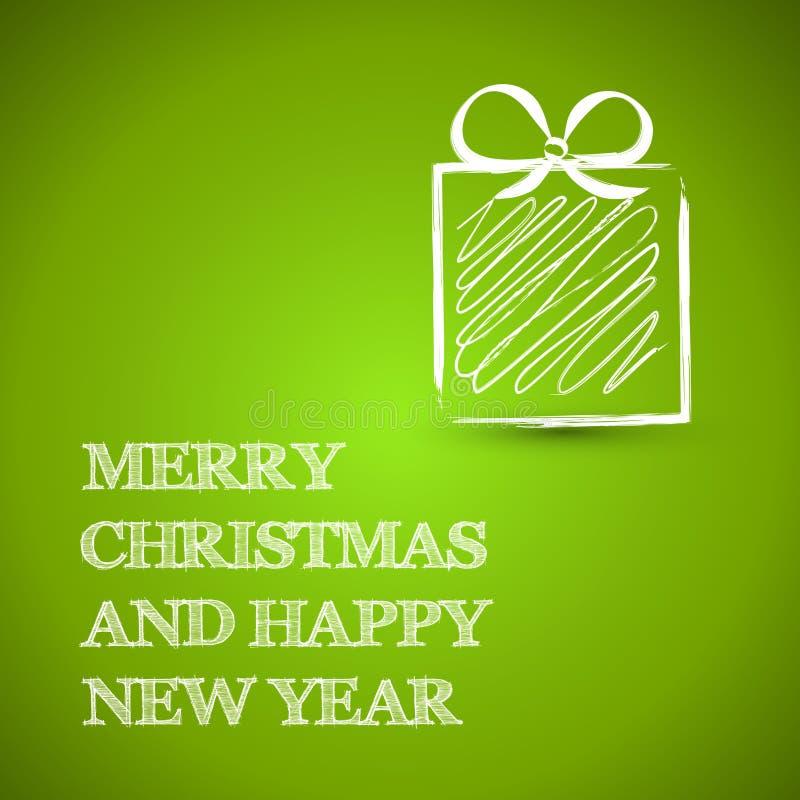 Blåa tekniska fyrkantiga julgåvor vektor illustrationer