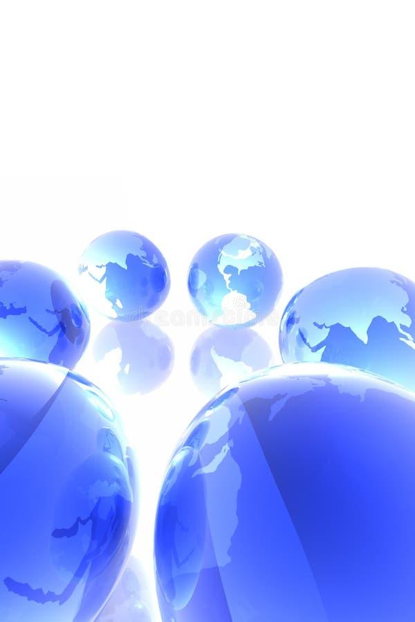 blåa världar royaltyfri illustrationer