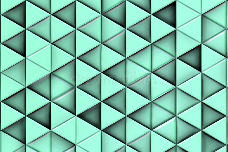 Blåaktig bakgrund med blåaktiga trianglar och skuggor royaltyfria bilder