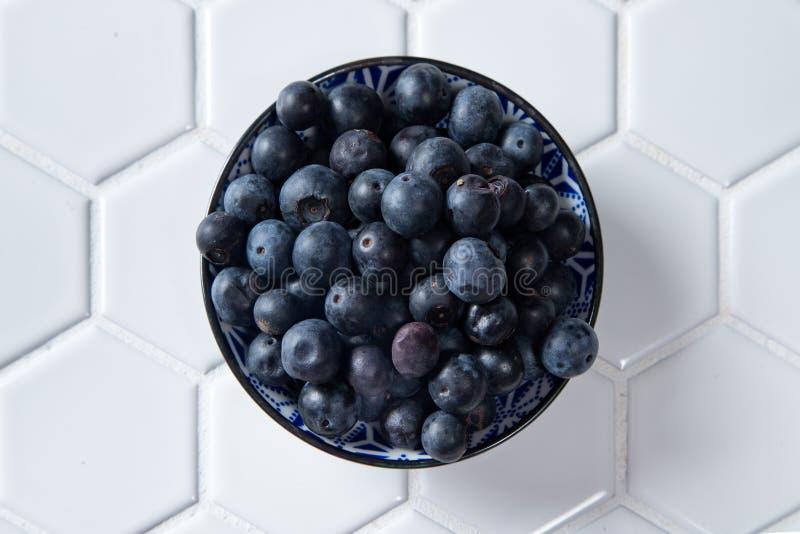 blåbär bowlar nytt arkivbilder