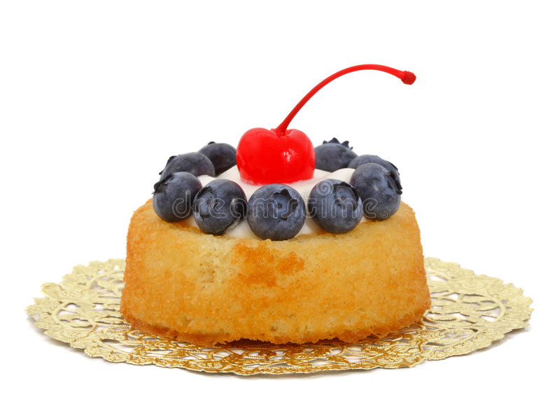 blåbärshortcake royaltyfria foton