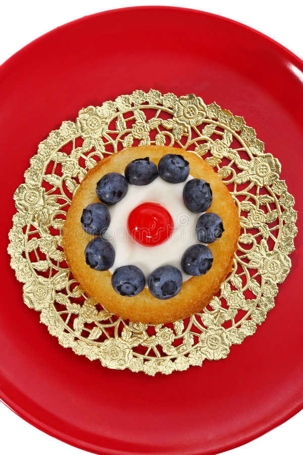 blåbärshortcake arkivfoton