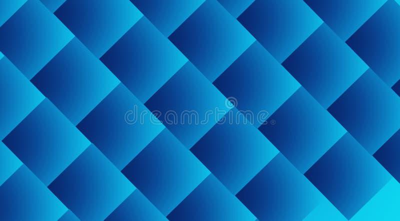 Blåfärgade diagonalt monterade kuber abstrakt bakgrund arkivfoton