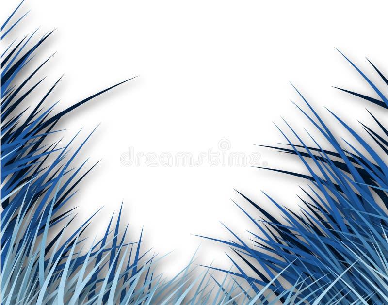 blågräs royaltyfri illustrationer