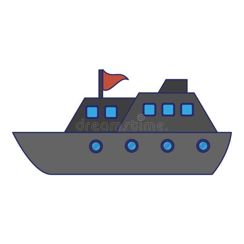 Blålinjen för symbol för fartyg för kryssningskepp vektor illustrationer