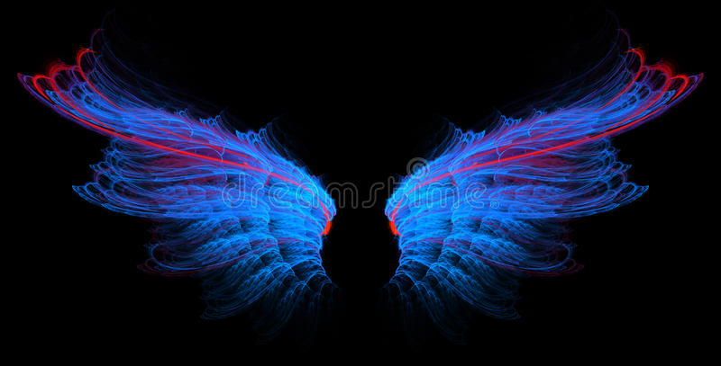 blålinjenredvingar vektor illustrationer