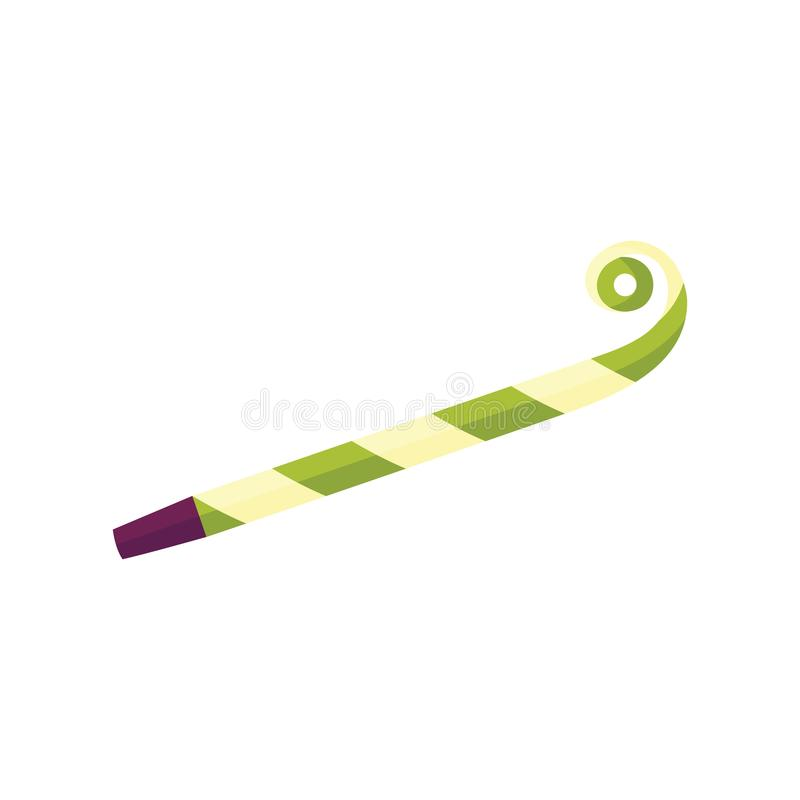 Blåsare för vektorlägenhetparti, noisemaker, visslingsymbol royaltyfri illustrationer
