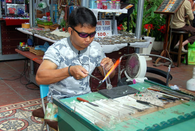 blåsareceylon glass jung phuket thailand royaltyfria foton