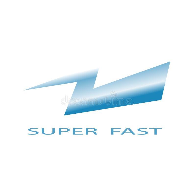 Blått åskaillustrationsymbol för toppen snabb illustrationdesign stock illustrationer