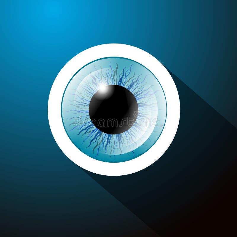 Blått öga för abstrakt vektor royaltyfri illustrationer
