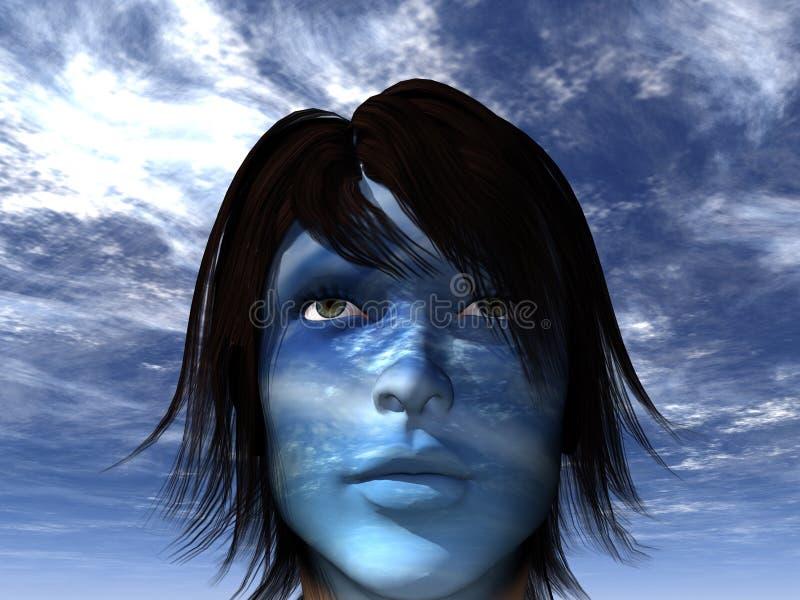 blått vektor illustrationer