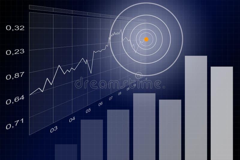 blått affärsark vektor illustrationer