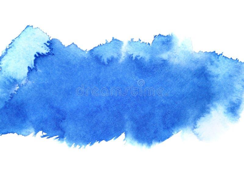 Blått akvarellband royaltyfri illustrationer
