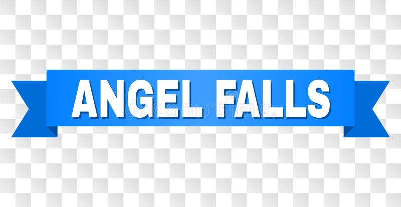 Blått band med den ANGEL FALLS överskriften vektor illustrationer