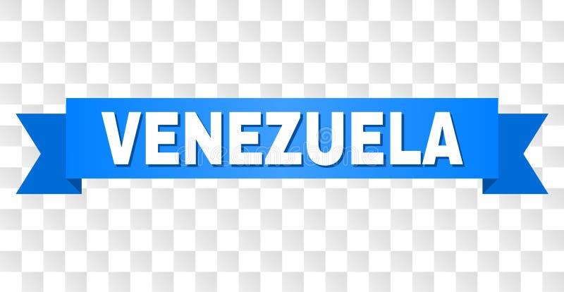 Blått band med den VENEZUELA titeln stock illustrationer