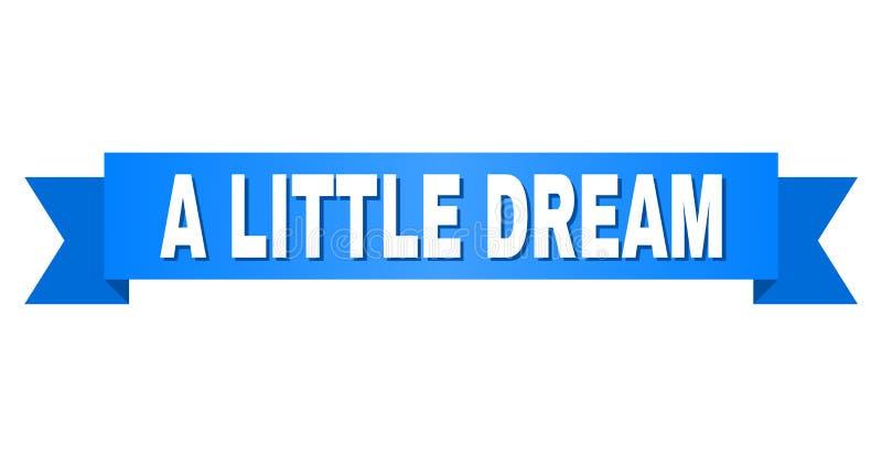 Blått band med LITE DRÖM- text stock illustrationer