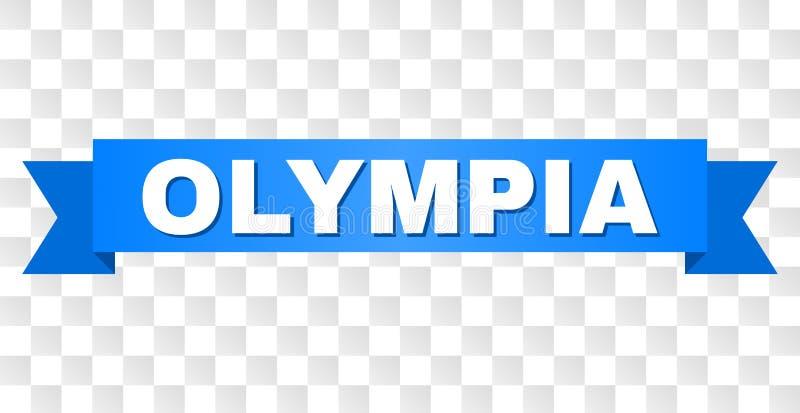 Blått band med OLYMPIA Text stock illustrationer