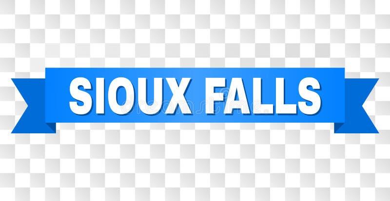Blått band med SIOUX FALLS text vektor illustrationer