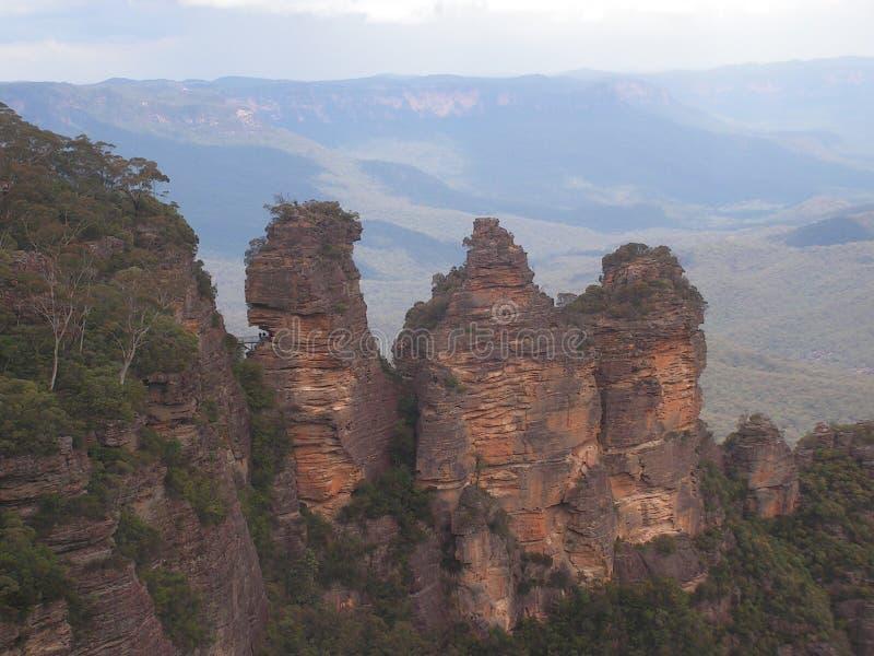 Blått berg Nationalpark i Australien arkivbilder