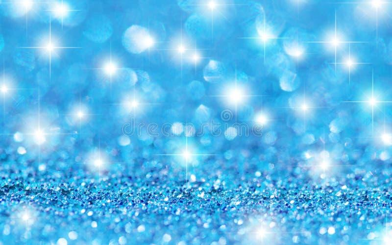 Blått blänker stjärnabakgrund royaltyfri foto