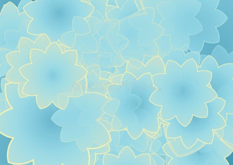 blått blom- för bakgrund royaltyfri illustrationer
