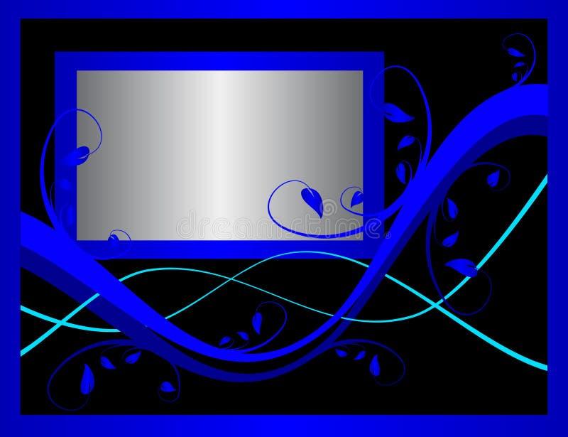 blått blom- formellt för bakgrund stock illustrationer