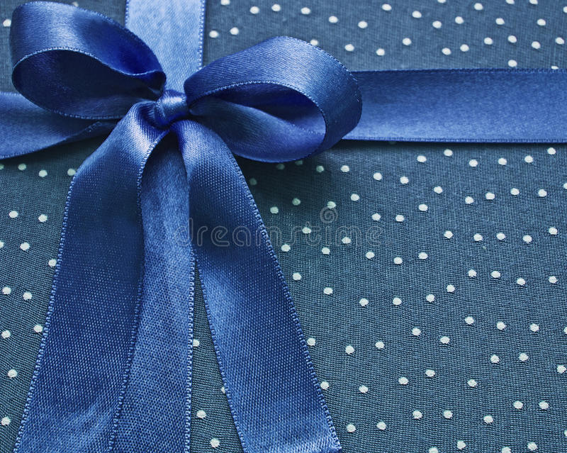 blått bowcloseuptyg royaltyfria bilder