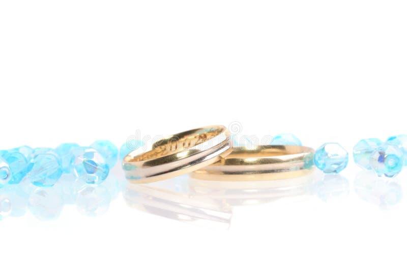 blått bröllop royaltyfria bilder
