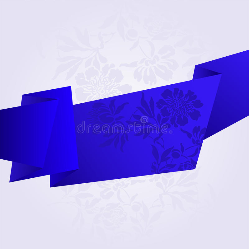 blått brutet band vektor illustrationer