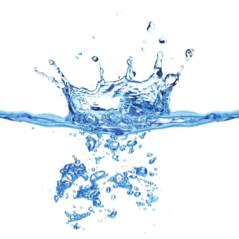 blått bubblavatten för luft arkivfoton