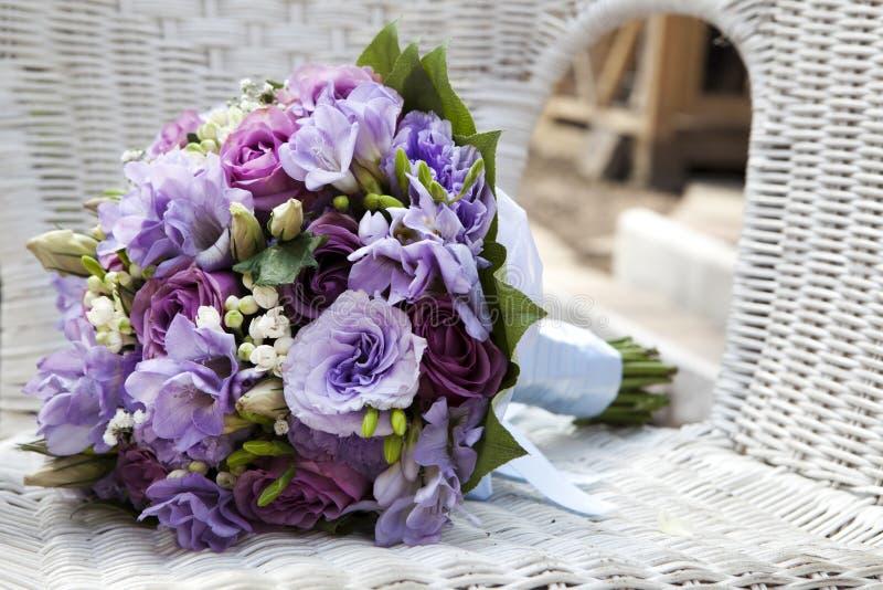 blått bukettbröllop royaltyfria bilder