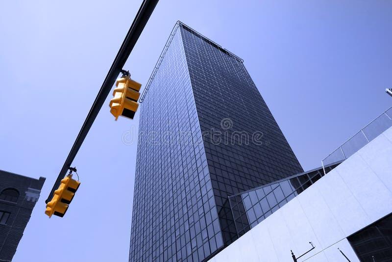 blått byggnadsexponeringsglas royaltyfria foton