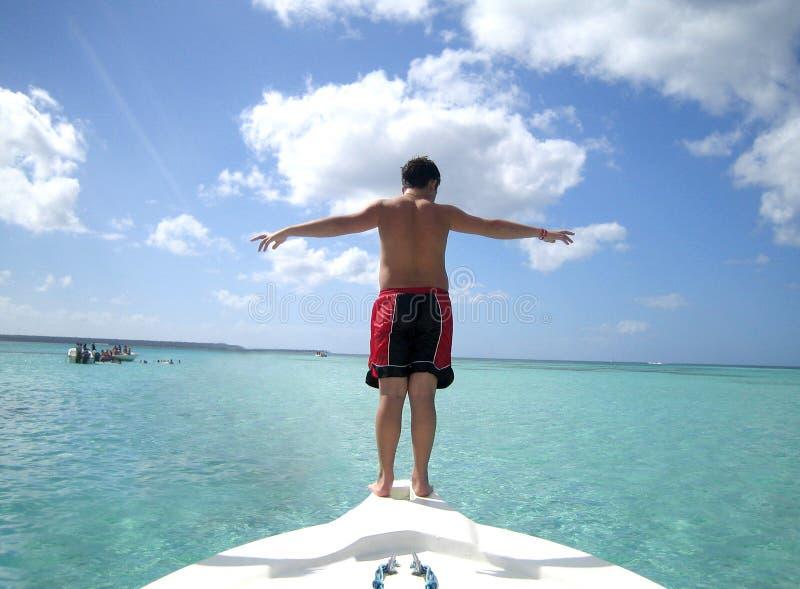Download Blått Crystal Tropiskt Vatten Arkivfoto - Bild av frihet, dominikan: 243266