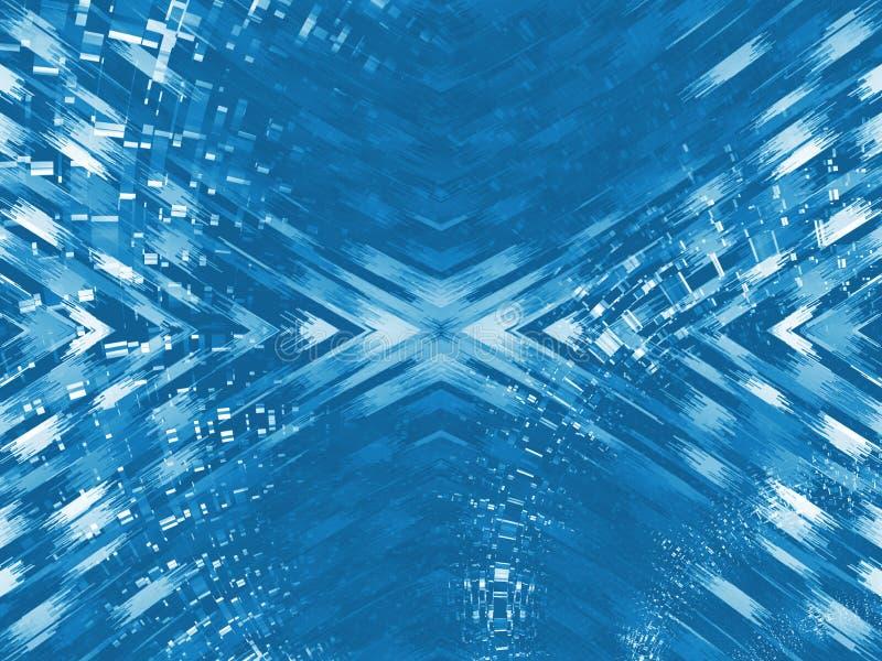 blått digitalt info stock illustrationer