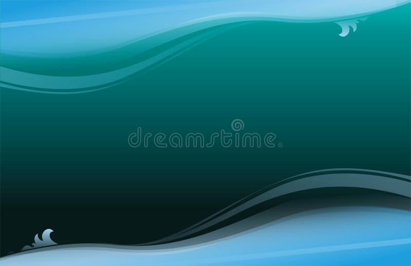 blått djupt för abstrakt bakgrund vektor illustrationer