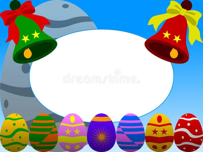 Blått Easter Ramfoto Fotografering för Bildbyråer