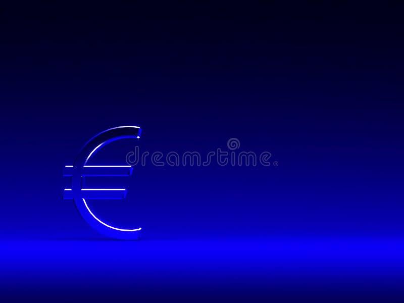 blått eurotecken för bakgrund vektor illustrationer