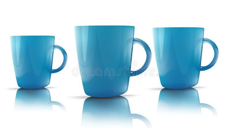 blått exponeringsglas vektor illustrationer