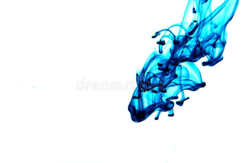 blått färgpulver royaltyfri foto