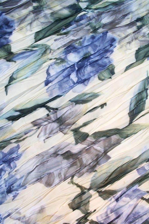 blått färgtyg blommar modellvatten royaltyfri foto