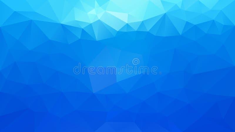 Blått för himmel för abstrakt ojämn polygonal bakgrund för vektor färgar horisontallutning stock illustrationer