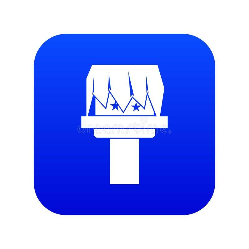 Blått för magisk symbol för ask digitala stock illustrationer