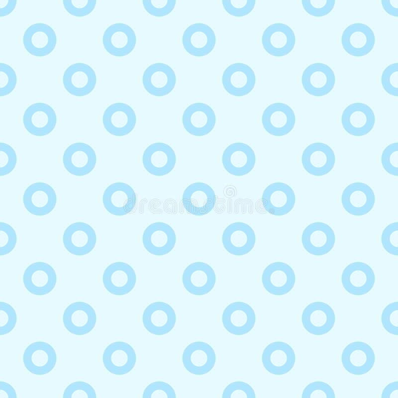 Blått för sötsak för prickmodell sömlösa två signalfärger royaltyfri fotografi