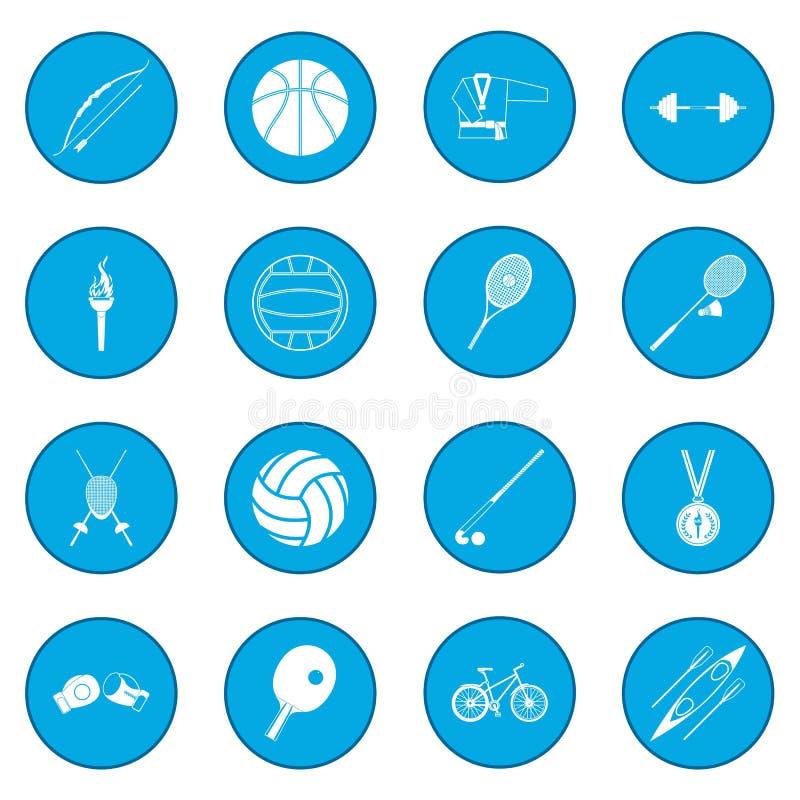 Blått för sommarsportsymbol vektor illustrationer
