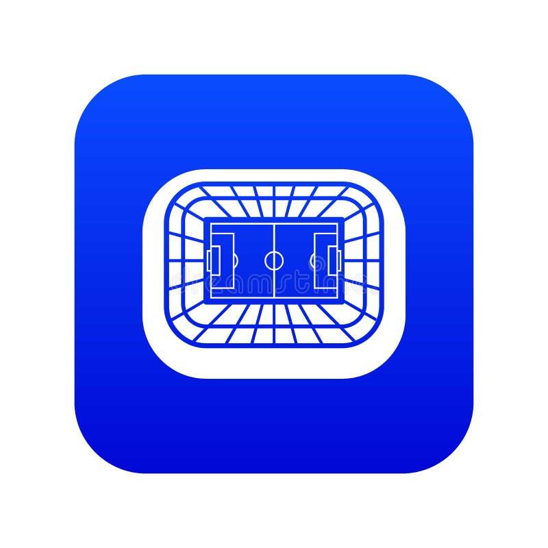 Blått för symbol för bästa sikt för stadion digitala vektor illustrationer