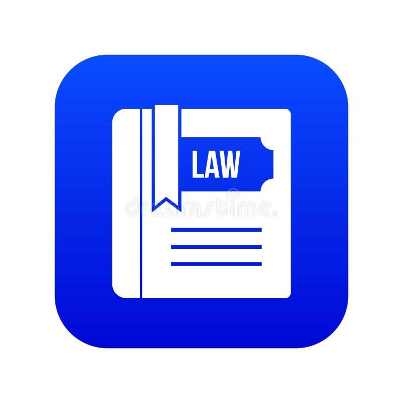 Blått för symbol för lagbok digitala stock illustrationer
