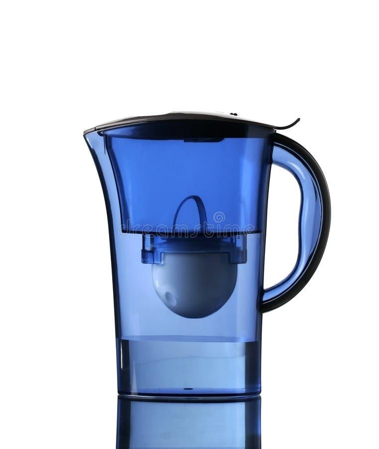 blått filtervatten royaltyfri fotografi