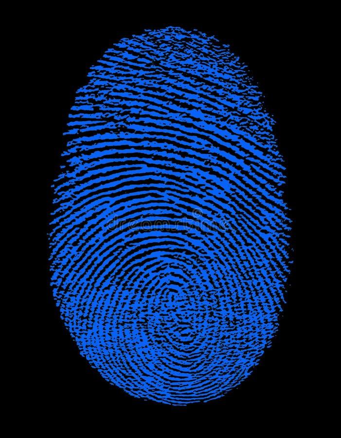 blått fingeravtryck